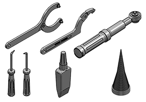 TOOLS FOR CYLINDER ASSEMBLING