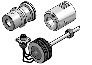 COMPONENTS FOR CYLINDERS WITH SENSORS